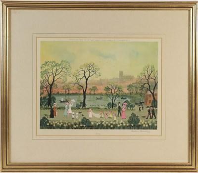 Lot 1080 - After Helen Bradley (1900-1979) Four seasons, signed prints, 26.5cm by 32cm (4)