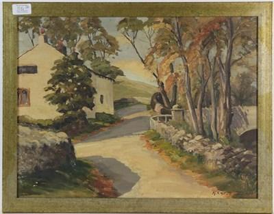Lot 1081 - Arnold Denby (20th century) Summer landscape with a river, signed oil on artist's board, 39cm...