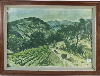 Lot 1088 - After Andre Dunoyer de Segonzac (1884-1974) La Route de Grimaud, print, circa 1952, galley...