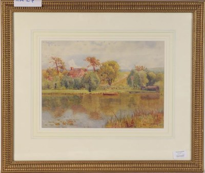 Lot 1089 - Frank A Goodwin (fl. 1887-1907) Country landscape, signed and dated 1898 watercolour, 24cm by...