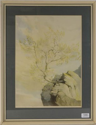 Lot 1090 - William Heaton Cooper RI (1903-1995) ''Wind and Sun, Wastwater'', signed and inscribed in pencil, a
