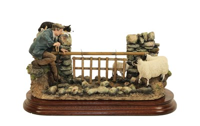 Lot 87 - Border Fine Arts 'To The Rescue', model No. B1100 by Hans Kendrick, limited edition 46/600, on wood