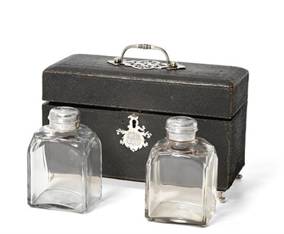 Lot 2007 - A Pair of George II Silver-Mounted Cut-Glass Tea-Caddies, Apparently Unmarked, Circa 1750, the...