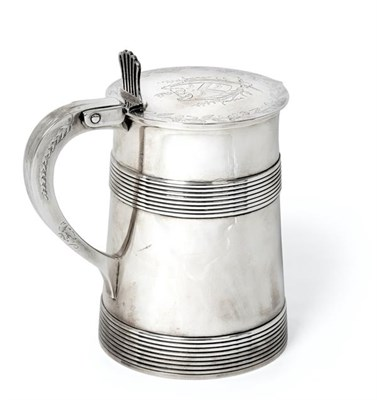 Lot 2018 - A George III Silver Tankard, Maker's Mark IC, Possibly for John Carter, London, 1776, tapering...