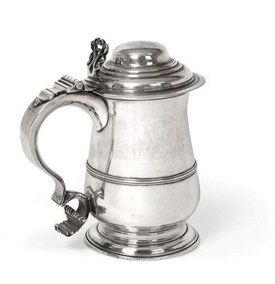 Lot 2020 - A George III Silver Tankard, by William and James Priest, London, 1766, baluster and on...