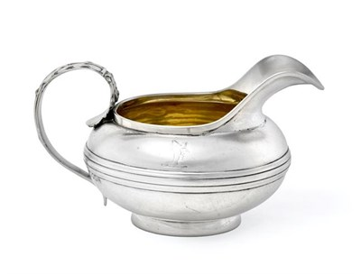 Lot 2021 - A George IV Provincial Silver Cream-Jug, by James Barber, George Cattle and William North,...