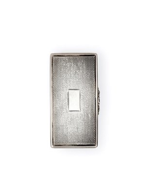 Lot 2034 - A William IV Silver Snuff-Box, by John Tongue, Birmingham, 1835, oblong and with engine-turned...