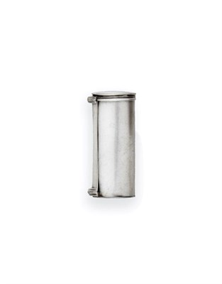 Lot 2035 - A George IV Silver Nutmeg-Grater, by Joseph Willmore, Birmingham, 1822, plain tubular, with...