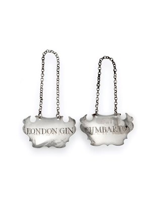 Lot 2038 - A Pair of George II Silver Decanter-Labels, by Sandilands Drinkwater, London, Circa 1750, each...