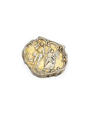 Lot 2041 - A Continental Silver-Gilt Snuff-Box, Maker's Mark HE? Only, Circa 1780, Perhaps Scandinavian,...