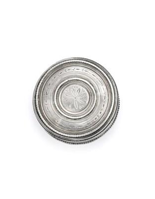 Lot 2042 - An Italian Silver Bonbonnier, Maker's Mark Indistinct, Venice, Probably 18th Century, plain...