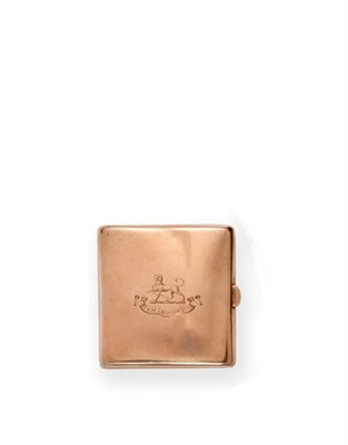 Lot 2052 - A Victorian Gold Cigarette-Case, by William Gibson and John Lawrence Langman, London, 1895,...