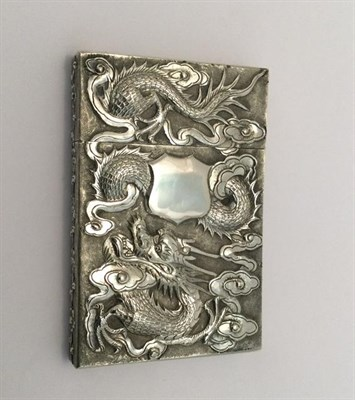 Lot 2054 - A Chinese Export Silver Card-Case, by Wang Hing, Hong Kong, Circa 1900, Further Stamped 'Zhuo',...