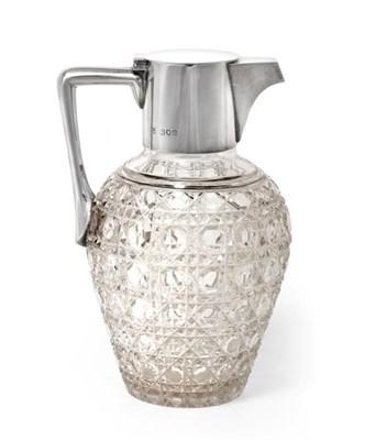 Lot 2070 - A Victorian Silver-Mounted Cut-Glass Claret-Jug, by John Thomas Heath and John Hartshorne...