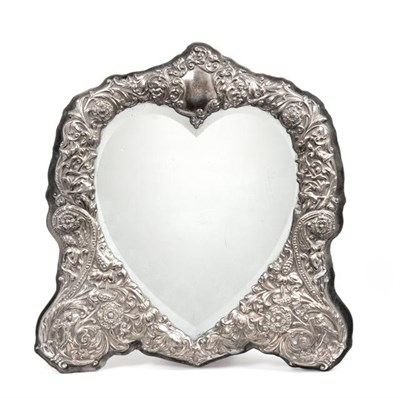 Lot 2090 - An Elizabeth II Silver-Mounted Dressing-Table Mirror, by David Shaw Silverware Ltd., London,...