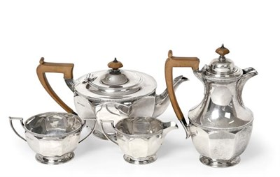 Lot 2091 - A Four-Piece George V Silver Tea-Service, by Ollivant and Botsford, Sheffield, 1930, The...