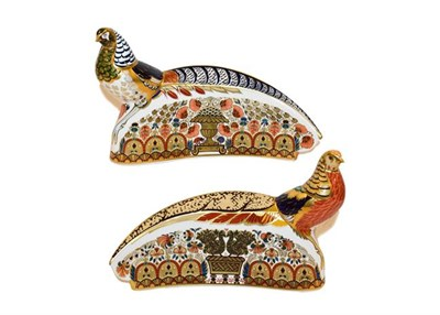 Lot 3 - Royal Crown Derby Imari: Harrods Pheasant, limited edition 191/300, with gold stopper,...