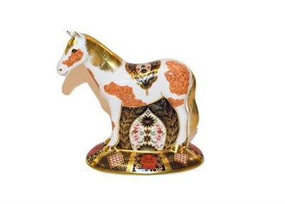 Lot 8 - Royal Crown Derby: Epsom Filly paperweight, limited edition 462/500, with gold stopper, box,...