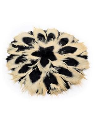 Lot 30 - Hides/Pelts: Colobus Monkey (Colobus guereza), circa 1970, Tanzania, circular skin rug made from 17