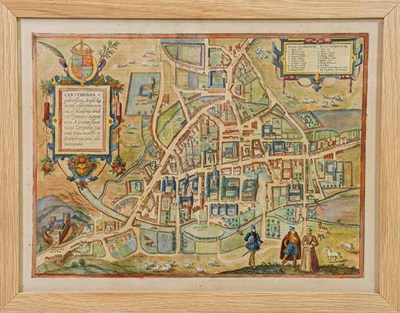 Lot 1 - Braun (Georg, & Franz Hogenberg). [Cambridge]. Cantebrigia,opulentissimi Angli[a]e regni, urbs...