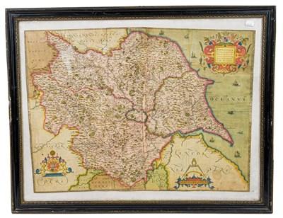 Lot 11 - Saxton (Christopher). Eboracensis comitatus, [London], 1577 [i.e. 1579]. Engraved map of...