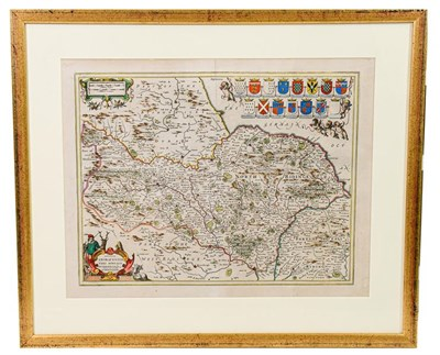 Lot 19 - Yorkshire. A group of 4 maps, 17th century, comprising:  1) Ogilby (John). The Road from Whitby...