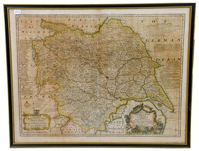 Lot 20 - Yorkshire. Four maps of Yorkshire, 17th-19th century, comprising: 1) Tuke (John). Map of the County