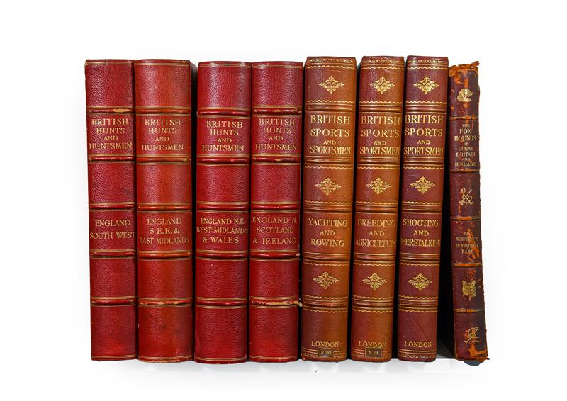 Lot 47 - British Sports and Sportsmen. Shooting and Deerstalking; Yachting and Rowing; Breeding, Agriculture