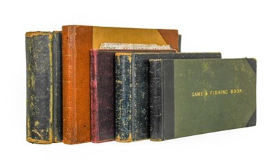 Lot 52 - Game-books. A group of five game-books, all oblong 4to, contemporary leather bindings,...