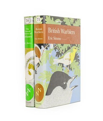 Lot 63 - New Naturalists. The Natural History of Orkney [and:] British Warblers. London: Collins, 1985....