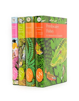 Lot 64 - New Naturalists. Heathlands; The New Forest; Ferns; Freshwater Fishes, Collins...