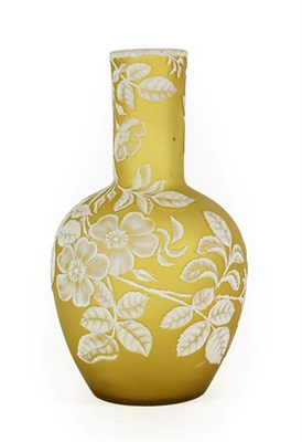 Lot 24 - A Thomas Webb & Sons Cameo Glass Bottle Vase, circa 1880, of ovoid form with cylindrical neck,...