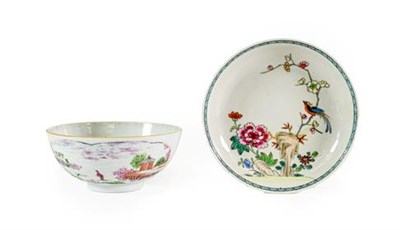Lot 36 - A London Decorated Chinese Porcelain Bowl, mid 18th century, painted in famille rose type...