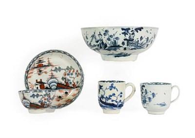 Lot 49 - A James Pennington Liverpool Porcelain Bowl, circa 1770, painted in underglaze blue with the...