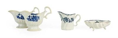 Lot 50 - A Pair of John Pennington Liverpool Porcelain Sauceboats, circa 1790, with scroll handle and...