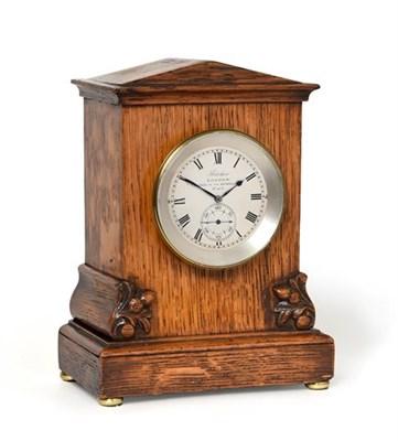 Lot 278 - An Oak Cased One Day Marine Chronometer Mantel Timepiece, signed Barraud, Cornhill, London, No.403
