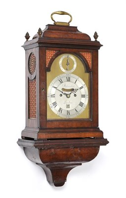 Lot 287 - A Walnut Veneered Striking Bracket Clock, signed Delander, London, circa 1750, inverted bell...