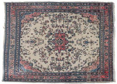 Lot 316 - Hamadan Carpet Iranian Kurdistan, circa 1950 The ivory field sparsely decorated with flowering...