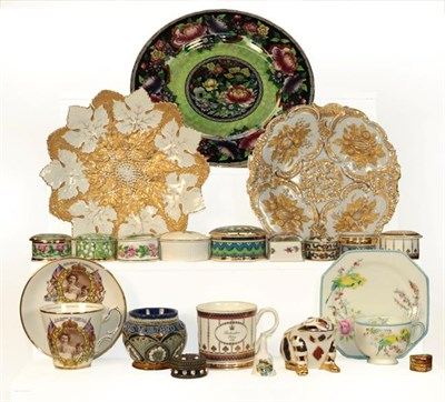 Lot 44 - Ceramics, glass and plated wares including Lladro figures, Royal Doulton 'The Lobster Man'...