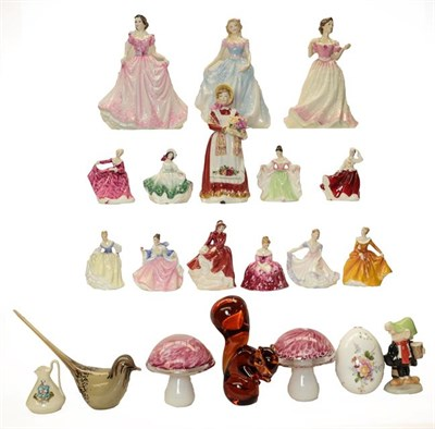 Lot 52 - Royal Doulton figures including: Faith HN4151, Hope HN4097, Charity HN4243 and Old Country...