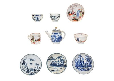 Lot 64 - A Philip Christian Liverpool blue and white tea bowl and saucer circa, 1770, together with a...