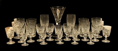 Lot 66 - A quantity of Waterford crystal drinking glasses, including twelve various sized Bohemian...