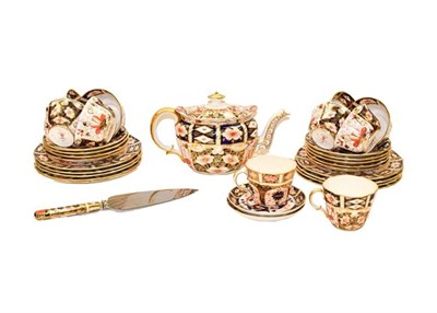 Lot 67 - A Royal Crown Derby part tea and coffee service decorated in the Old Imari pattern, comprising...