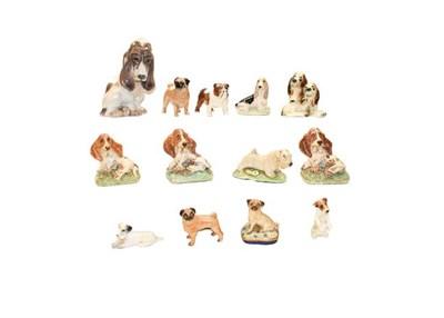 Lot 70 - Two trays of animal models, including: Royal Copenhagen Tiger, model number 714, Lladro dog...