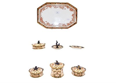 Lot 80 - Six items of Royal Crown Derby Imari and a Wedgwood tray