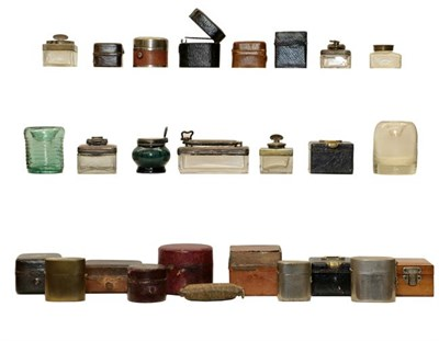 Lot 85 - A small collection of various travelling inkwells