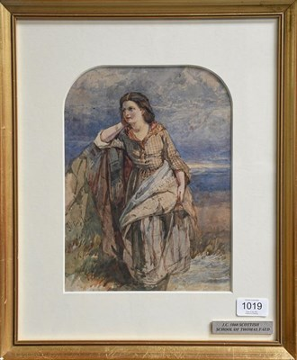 Lot 1019 - Attributed to Thomas F Collier (1840-1891) Country girl in a reflective standing pose,...