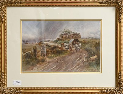 Lot 1026 - Attributed to William Tatton Winter, Market Day, indistinctly inscribed on label verso...