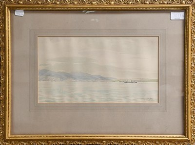 Lot 1028 - Sir Muirhead Bone HRWS (1876-1953) a view of the Cap Della Roca, Portugal, signed and inscribed...