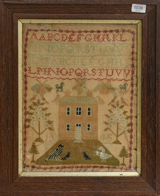 Lot 1036 - Two maps and two wool samplers (4)